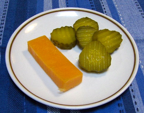 pickles and cheese